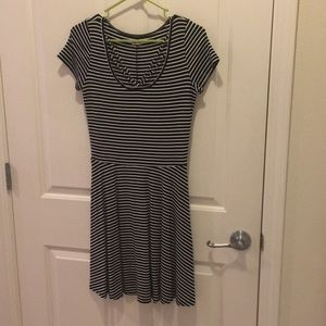 Hollister Black & White Knit Dress - M